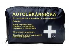 Autolékárnička černá textilní